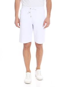 Versace Jeans - White bermuda with Versace Jeans logo print