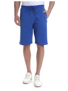 Versace Collection - Bright blue bermuda with Versace Jeans logo