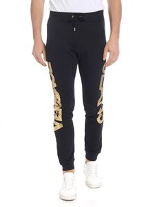 Versace Jeans - Black pants with golden vintage logo