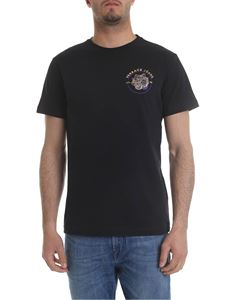 Versace Jeans - Black t-shirt with purple and golden print