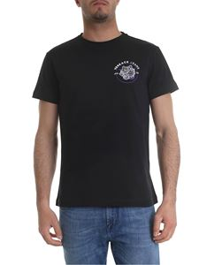 Versace Jeans - Black t-shirt with purple and white logo print