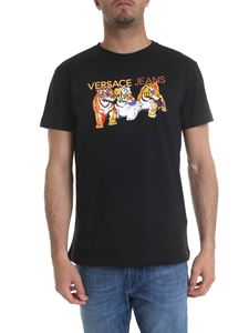 Versace Jeans - Black t-shirt with tiger prints
