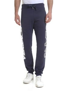 Versace Jeans - Blue pants with vintage silver logo