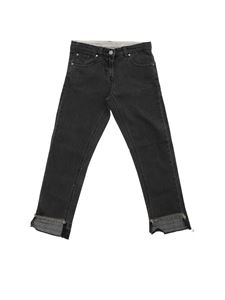 Stella McCartney Kids - Jeans nero sfrangiato
