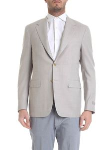 Canali - Wool jacket in dove grey
