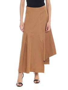 Barba - Asymmetrical skirt in brown