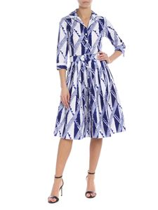 Samantha Sung - Printed Audrey Chemisier in white and blue