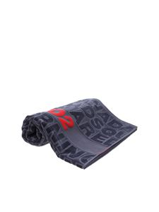 Dsquared2 - Logo cotton towel in dark gray