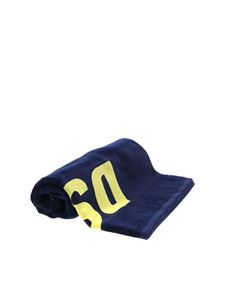 Dsquared2 - Logo cotton towel in dark blue