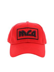 McQ Alexander Mcqueen - Cap in red with black logo embroidery