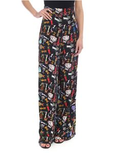 Ultràchic - Palazzo trousers in black with cowgirl print
