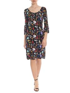 Ultràchic - Dress in black with cowgirl print