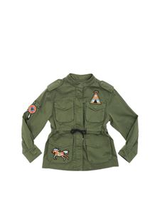 Alberta Ferretti - Army green field jacket with patch