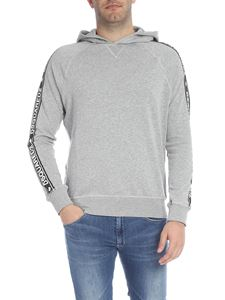 Dsquared2 - Grey sweatshirt with logoed bands