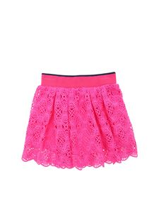 Alberta Ferretti - Fuchsia skirt in crochet effect lace