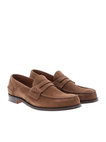 947733b13ce Church s Spring Summer 2019 pembrey loafers in brown suede - EDB003 ...
