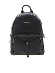 Lancaster Paris - Leather backpack with golden laminated logo