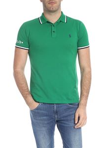 POLO Ralph Lauren - Slim fit polo in green with blue logo embroidery