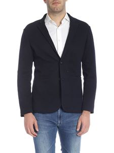 Emporio Armani - Two-buttoned jacket in black and blue