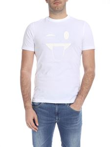 Emporio Armani - T-shirt in white with glossy effect print