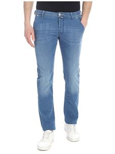 Jacob Cohën - Light blue jeans with white logo