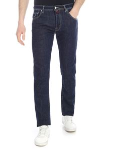 Jacob Cohën - Dark blue jeans with red logo