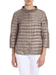 Herno - Quilted down jacket in dove grey color