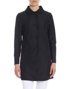 Herno - Overcoat in black technical fabric