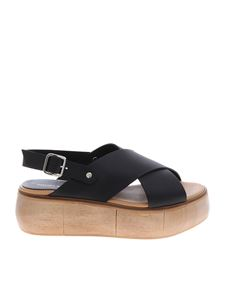 Paloma Barceló - Isamu sandals in black nappa