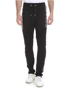 Balmain - Logo bands trousers in black