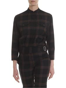 Paul Smith - Jacket with check pattern in black