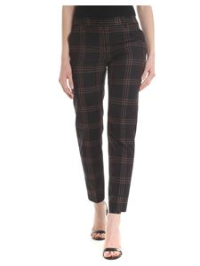 Paul Smith - Trousers with checked pattern in black
