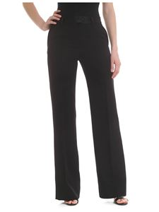 Paul Smith - Light wool palazzo trousers in black