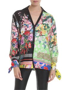 Versace - Bloom print multicolor shirt
