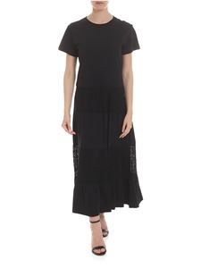 Red Valentino - Dress in black with crochet inserts