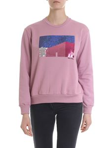 Paul Smith - Sweatshirt in pink with contrasting sequins