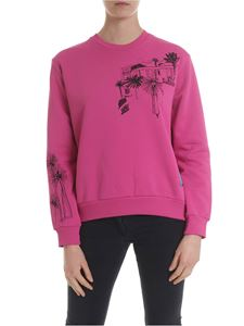 Paul Smith - Sweatshirt in fuchsia with contrasting embroidery