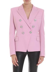 Balmain - Double-breasted jacket in pink