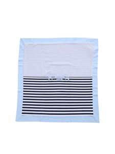 Emporio Armani - Blanket in blue and white stripes