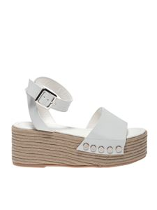 Kendall + Kylie - Stela wedge sandals in white