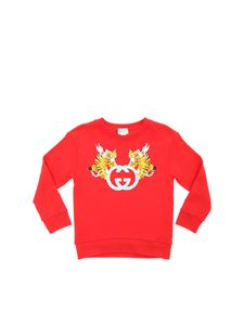 Gucci - Sweatshirt in red with logo print