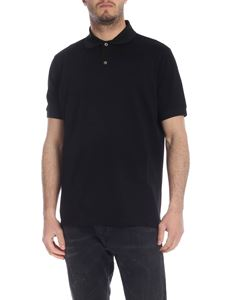 Paul Smith - Black polo with mother-of-pearl buttons