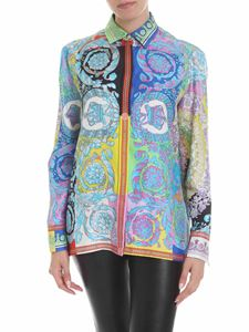 Versace - Multicolor shirt in printed silk