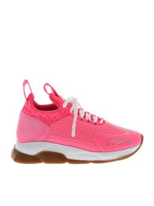 Versace - Cross Chainer sneakers in fluo pink