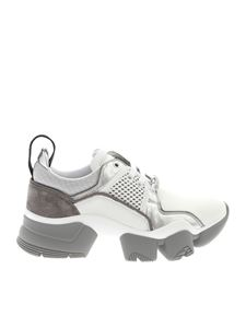Givenchy - Sneakers chunky Jaw bianche e argento