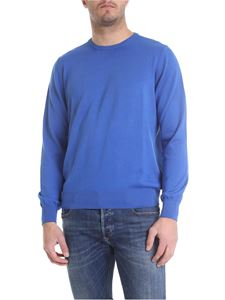 Fay - Pullover in electric blue cotton