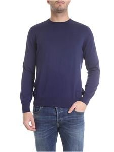 Fay - Crew-neck pullover in navy blue