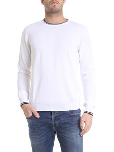 Fay - Pullover in white cotton