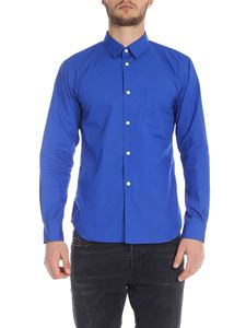 Comme Des Garçons Shirt Boys - Electric blue shirt with patch pocket