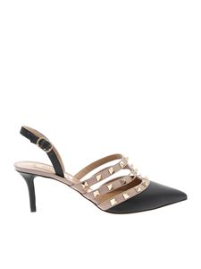 Valentino - Rockstud slingback in black and nude